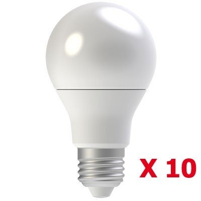 Pack de 10 Ampoules LED E27 9W Blanc chaud