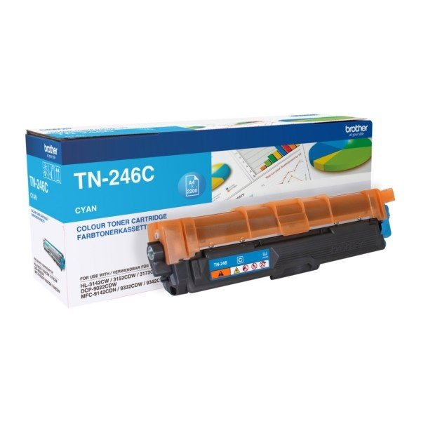 ORIGINAL Brother TN246C - Toner cyan