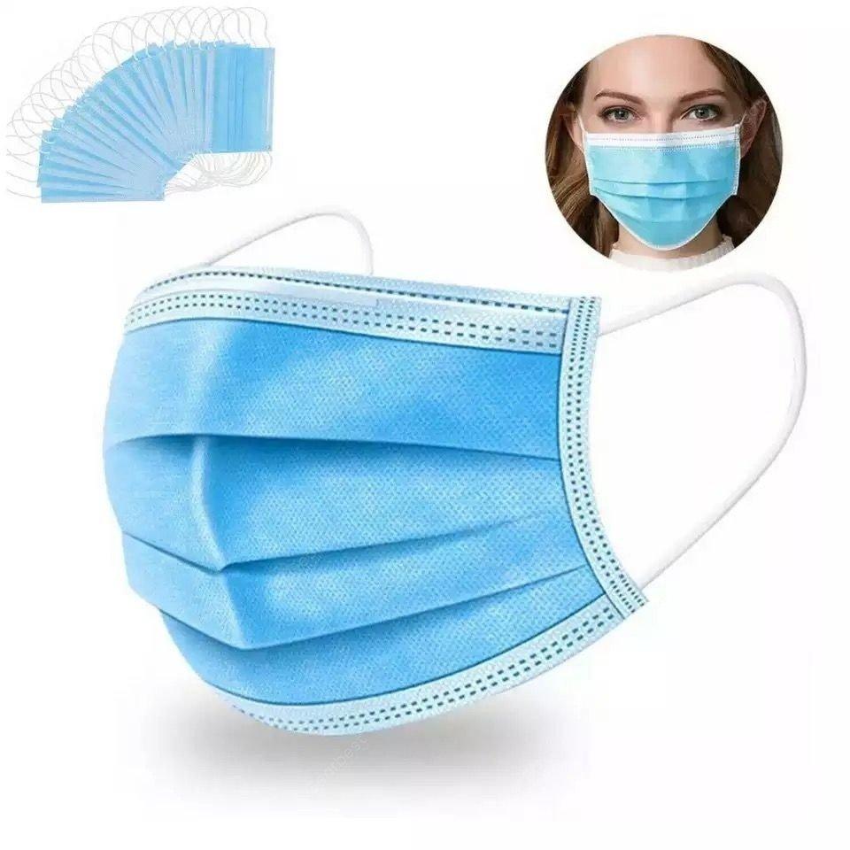 Boite de 50 Masques chirurgicaux 3 plis - Norme CE / Norme EN14683 / AC2019