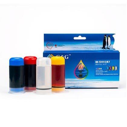 Kit de Recharge d'encre Couleur 3 X 30ml + 30 ml de solvant